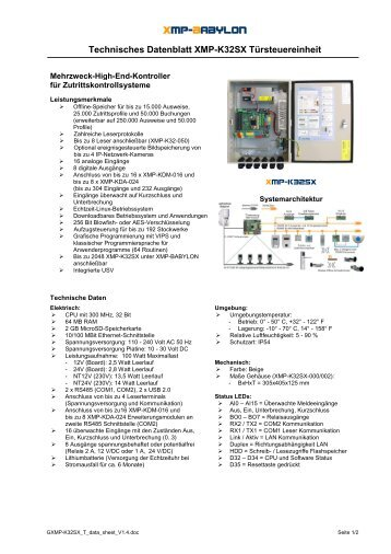 XMP-K32sx - AUTEC Gesellschaft für Automationstechnik mbH