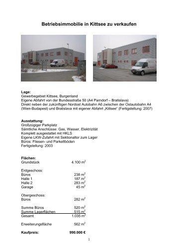 Betriebsimmobilie in Kittsee zu verkaufen