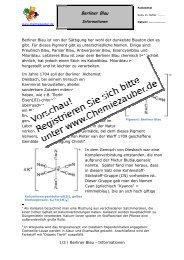 Informationsbogen zum Pigment Berliner Blau