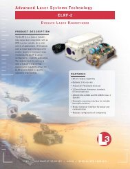 Advanced Laser Systems Technology ELRF-2 - L-3 Communications
