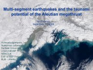 Multi-segment earthquakes and the tsunami potential of the
