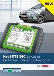 Neu! KTS 340: Leicht zu bedienen. Schwer zu übertreffen NEU!