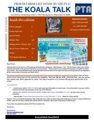 Koala Talk Newsletter - November - Cowlishaw Elementary School