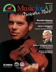 Music for All Orchestra Newsletter