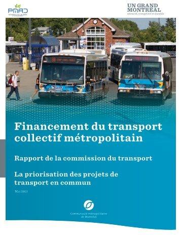 La priorisation des projets de transport en commun - Communauté ...