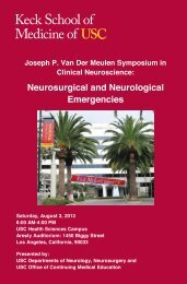 Neurosurgical and Neurological Emergencies - Keck School of ...
