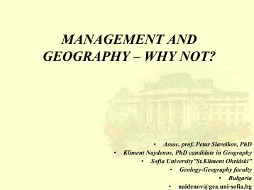 MANAGEMENT AND GEOGRAPHY - HERODOT Network for ...