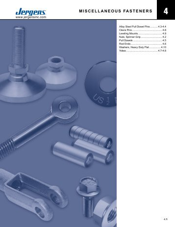 MISCELLANEOUS FASTENERS - Jergens Inc.