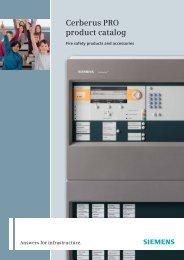 Cerberus PRO product catalog - Siemens
