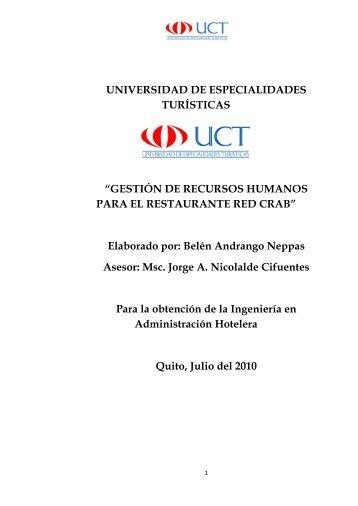 4.26.4. Procesos del Área - Repositorio Digital UCT - Universidad ...