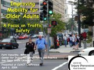 Improving Mobility for Older Adults: A Focus on Traffic Safety - CalACT
