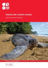 SpecieS and climate change: