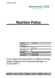 NSPCT Nutrition Policy.pdf - NHS North Somerset