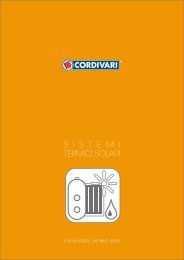 CORDIVARI catalogo Sistemi termici solari - Certificazione ...