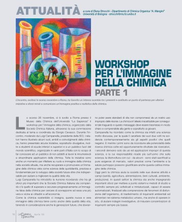 WORKSHOP PER L'IMMAGINE DELLA CHIMICA - Promedianet.it