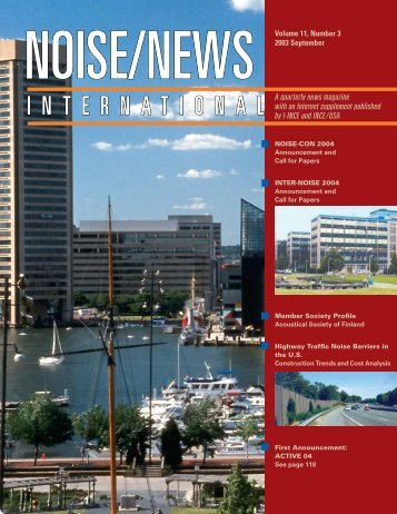 Volume 11, Number 3, September, 2003 - Noise News International