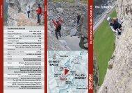 Prospekt Klettersteig - auf dem Simplon