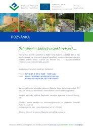 Pozvánka - Státní fond životního prostředí