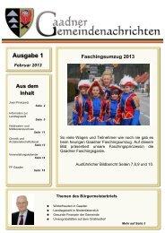Jänner 2013 - Gemeinde Gaaden