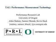 TAU – Performance Measurement Technology - The STE||AR Group