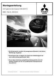 Montageanleitung - der Mitsubishi Outlander im Alltag