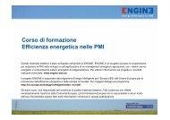 Corso di formazione Efficienza energetica nelle PMI - Engine-sme.eu