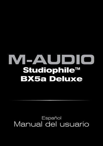 Studiophile BX5a Deluxe | Manual del usuario - M-Audio