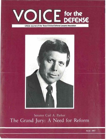 president's report - Voice For The Defense Online