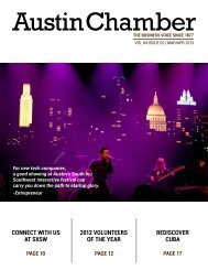 March - April - The Greater Austin Chamber of Commerce