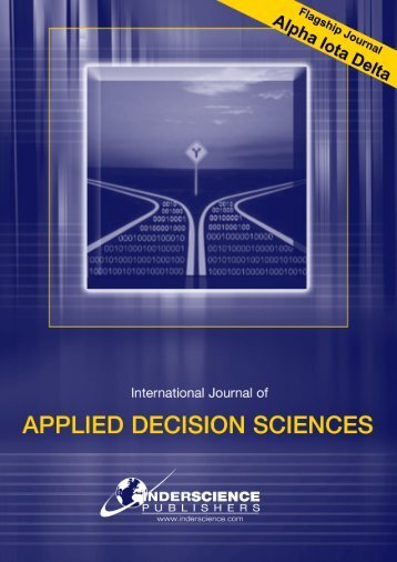 International Journal of APPLIED DECISION SCIENCES - Dr. Madjid ...