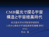 CMB偏光で探る宇宙 構造と宇宙暗黒時代 - 東京大学宇宙線研究所