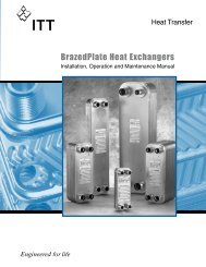 BrazedPlate Heat Exchangers - Standard Xchange