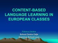 CONTENT-BASED LANGUAGE LEARNING IN EUROPEAN CLASSES