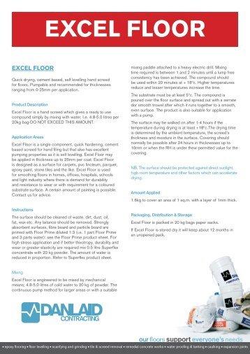 Excel Floor Technical Data Sheet - Danlaid Contracting
