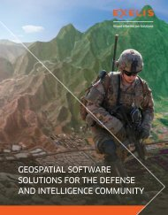 GeOSpaTIaL SOfTware SOLUTIOnS fOr The DefenSe anD ...