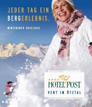 JEDER TAG EIN BERGERLEBNIS. - Hotel Post Vent