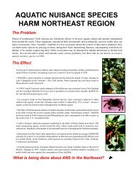 NEANS fact sheet.p65 - Northeast Aquatic Nuisance Species Panel