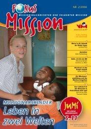 Leben in zwei Welten - bei der Velberter Mission
