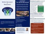 SUPPORT The World Movement - World Movement for Democracy