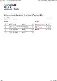 Swiss Tennis - Schweizerischer Tennisverband [swt05] - beim ...