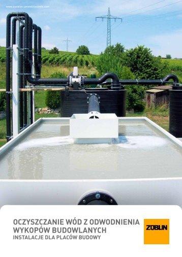 oczyszczanie wód z odwodnienia wykopów budowlanych