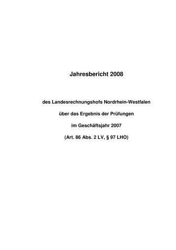 Jahresbericht 2008 - Landesrechnungshof des Landes Nordrhein ...
