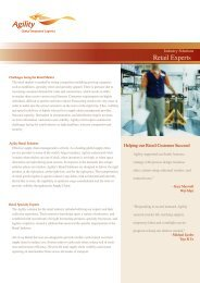 Industry Solutions Retail Experts - Agility