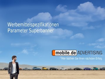 Parameter Superbanner - mobile.de Advertising