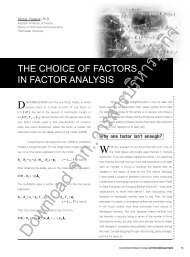 the choice of factors in factor analysis - Journal of Business ...