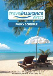 POLICY SCHEDULE - Travelcoverquote