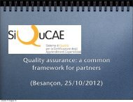 Quality assurance: a common framework for partners ... - EVTA
