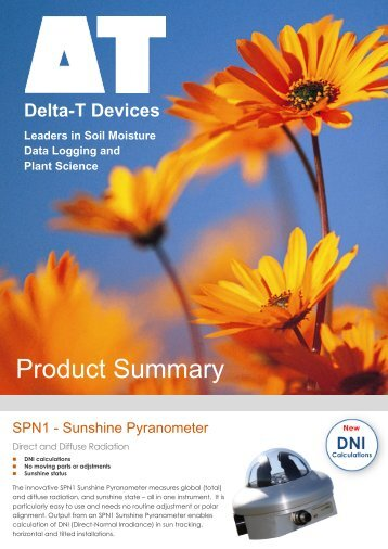 Product Summary - Delta-T Devices