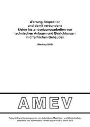 Wartung, Inspektion und damit verbundene ... - Arbeitskreis Maschinen