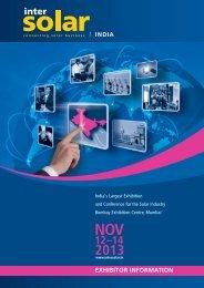 Download Exhibitor Information - Intersolar India